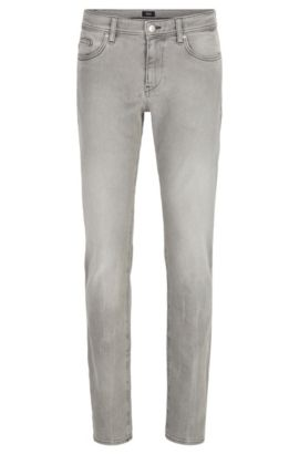Slim-fit jeans in comfort-stretch denim, Grey