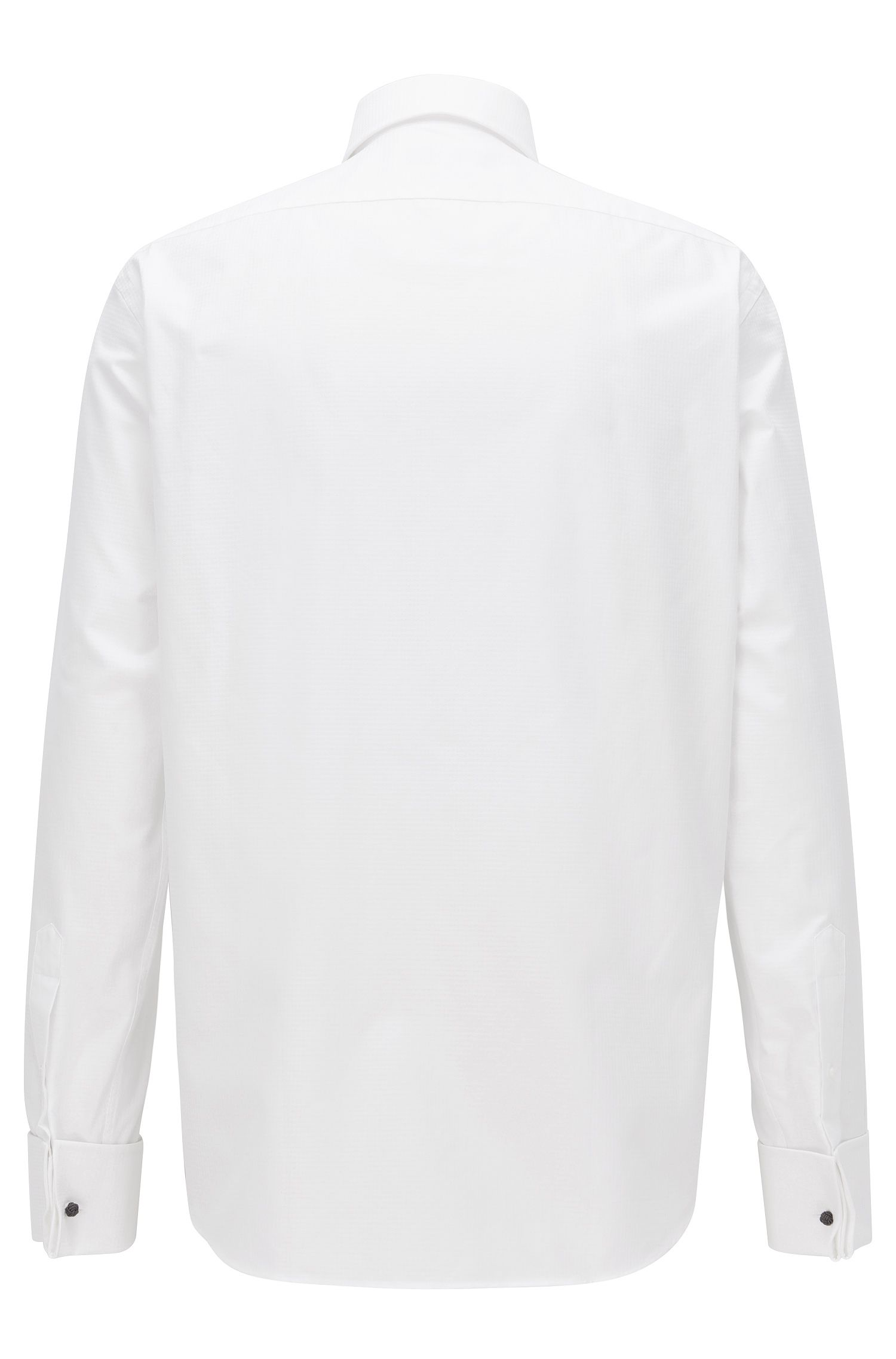 Chemise Regular Fit à poignets mousquetaires en coton Argyle