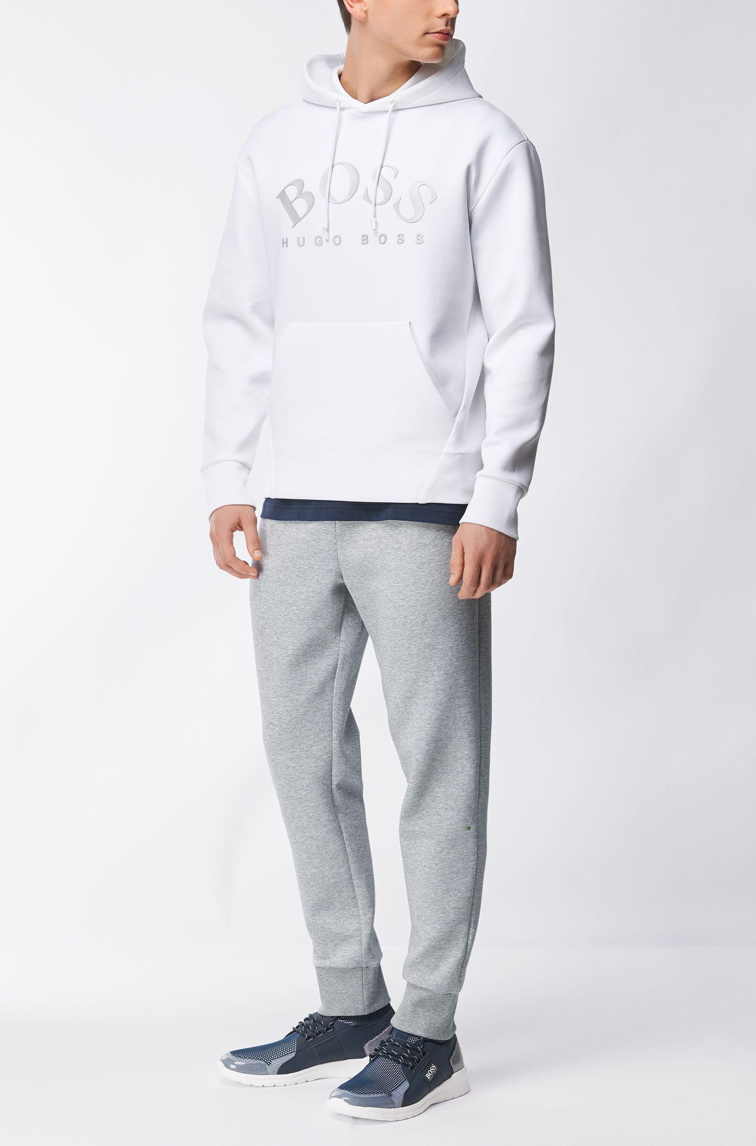 Pantalon de jogging Slim Fit à bas retroussé en coton mélangé