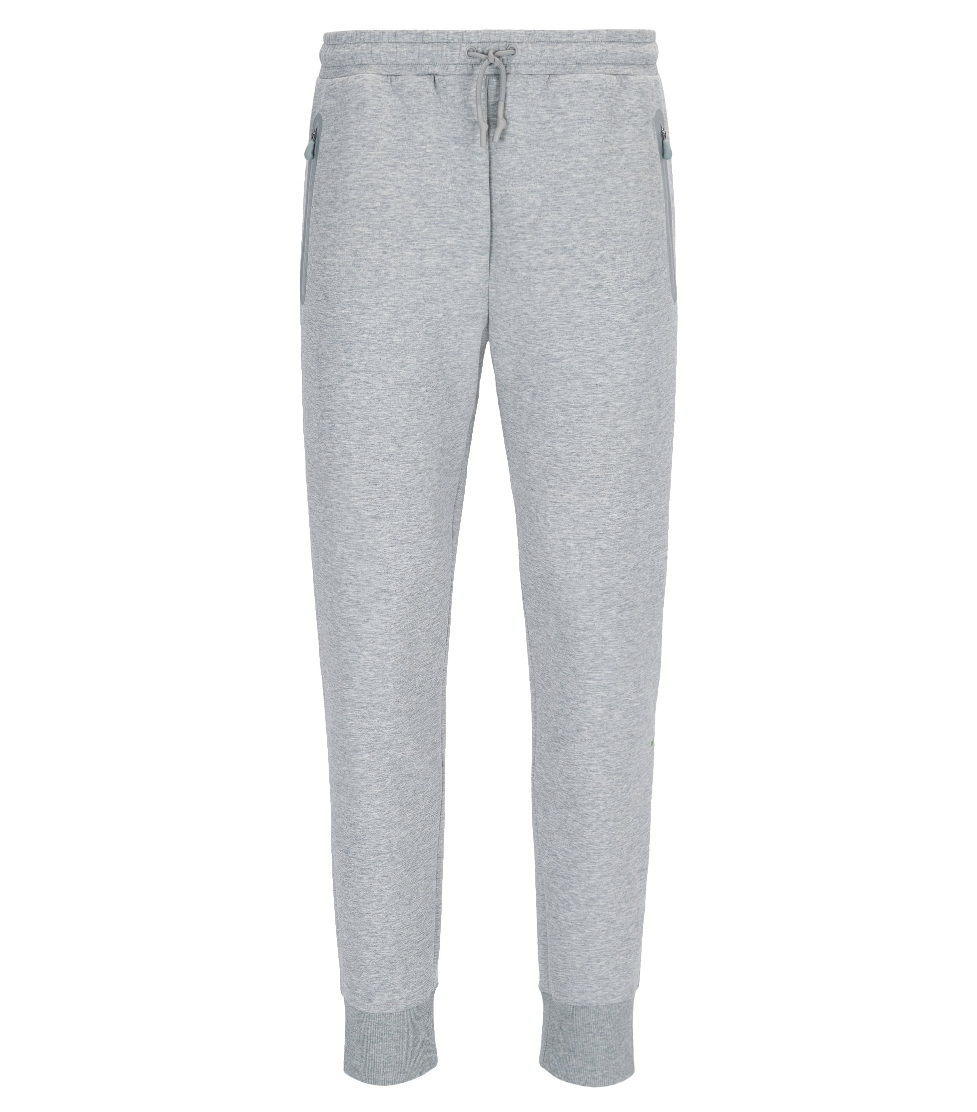 Slim-fit cuffed jogging bottoms in a cotton blend, Light Grey
