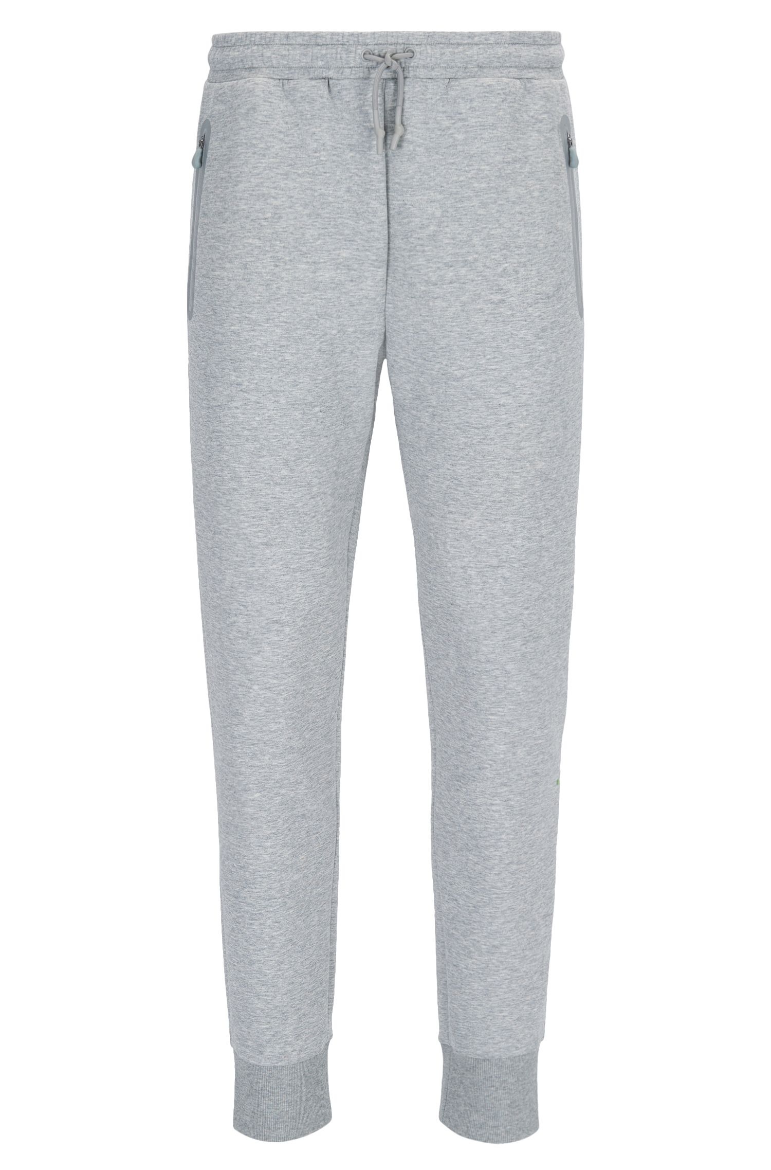 Slim-fit cuffed jogging bottoms in a cotton blend