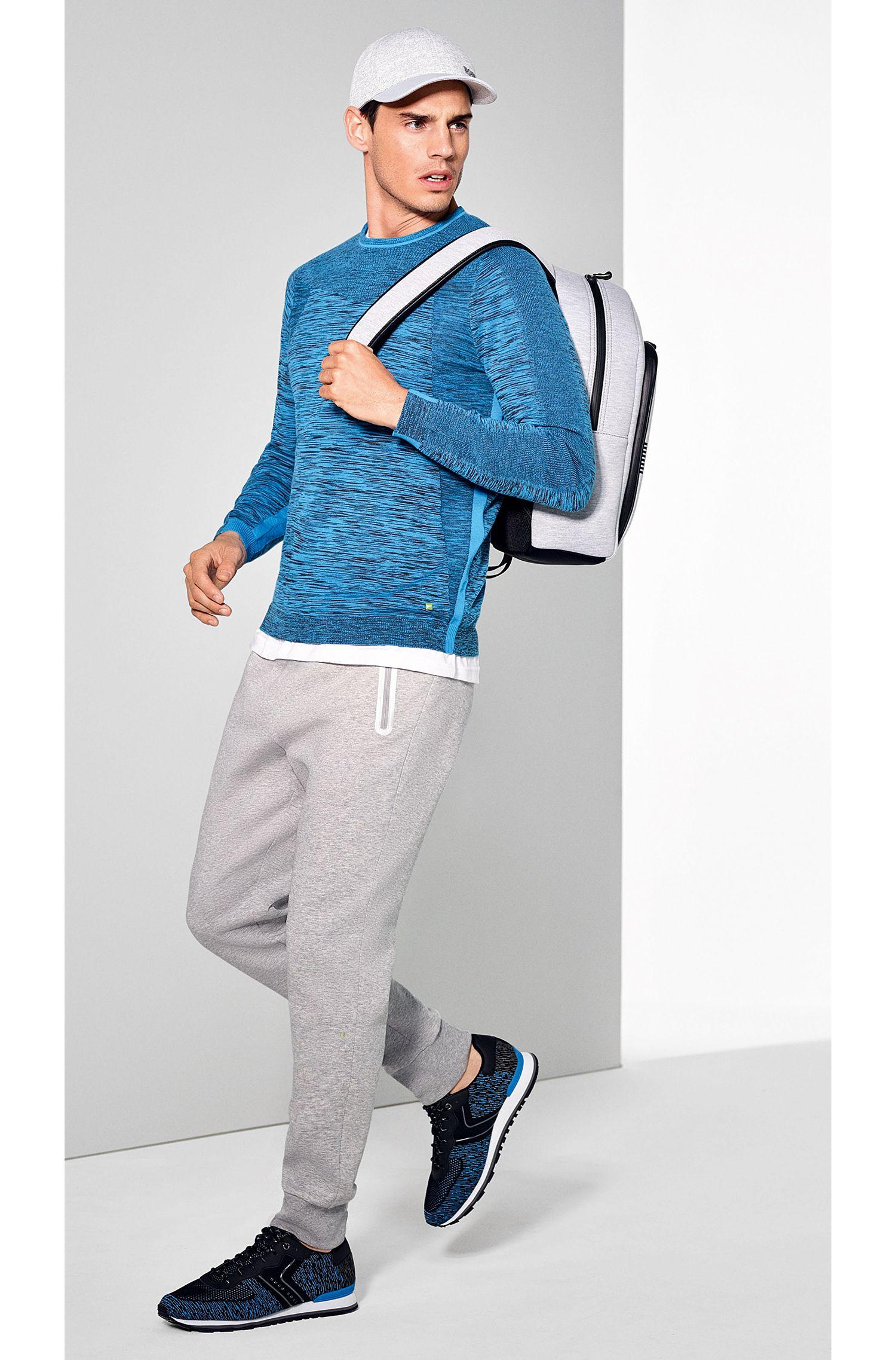 Slim-Fit Jogginghose aus elastischem Baumwoll-Mix