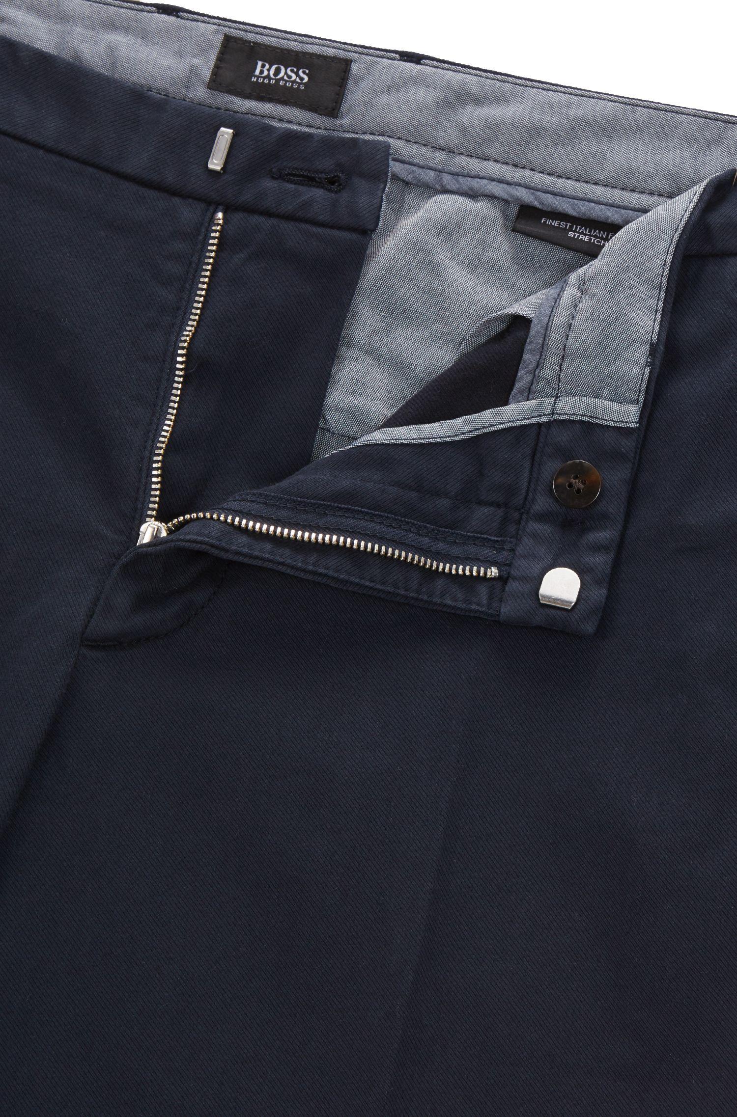 Slim-fit chinos in Italian stretch cotton