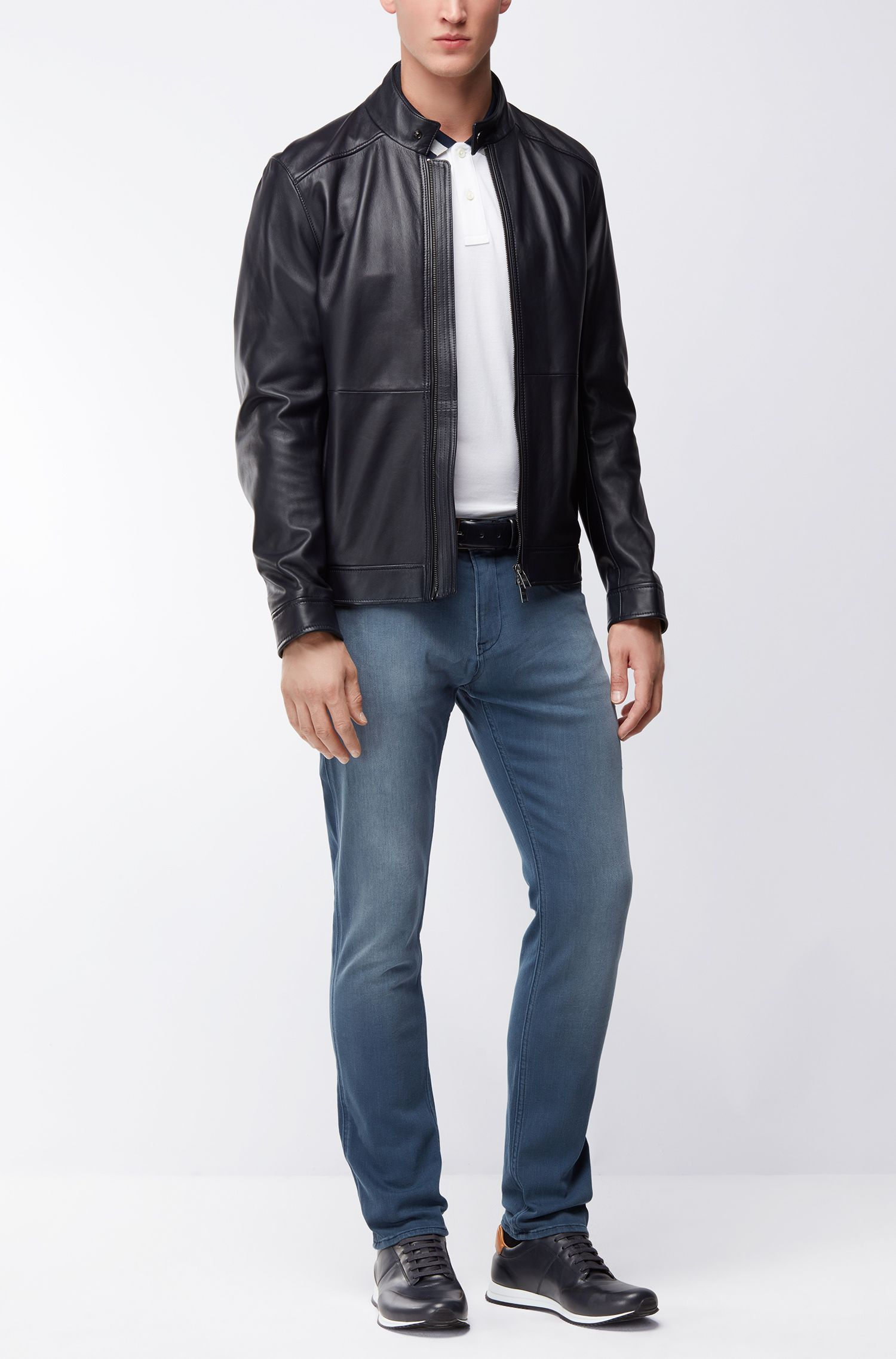 Slim-fit jeans in matte stretch denim