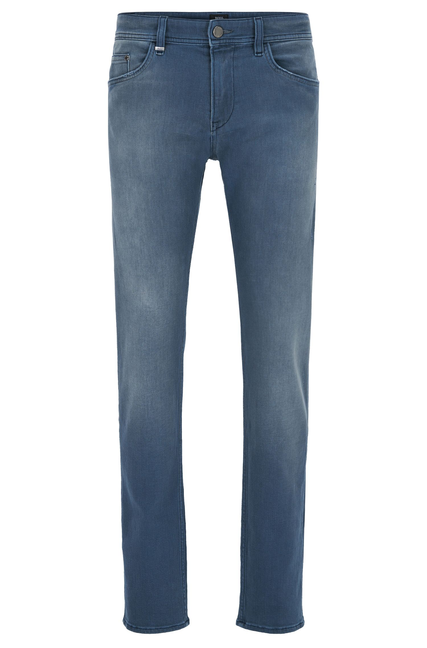 Slim-Fit Jeans aus Stretch Denim mit mattem Finish