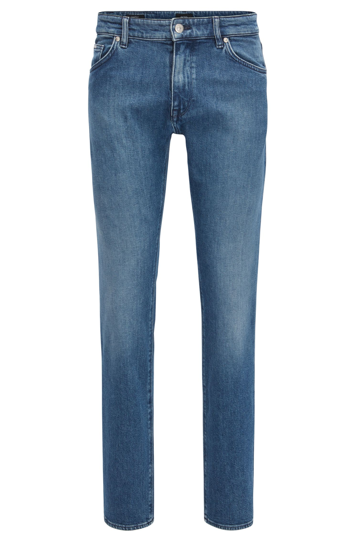 Dark-blue stretch-denim jeans in a regular fit
