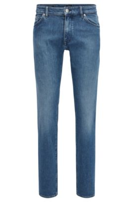 Dark-blue stretch-denim jeans in a regular fit, Blue
