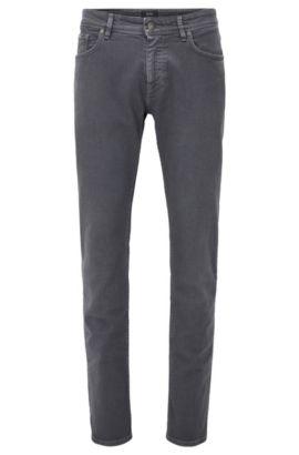 Jeans slim fit in comodo denim colorato, Grigio scuro
