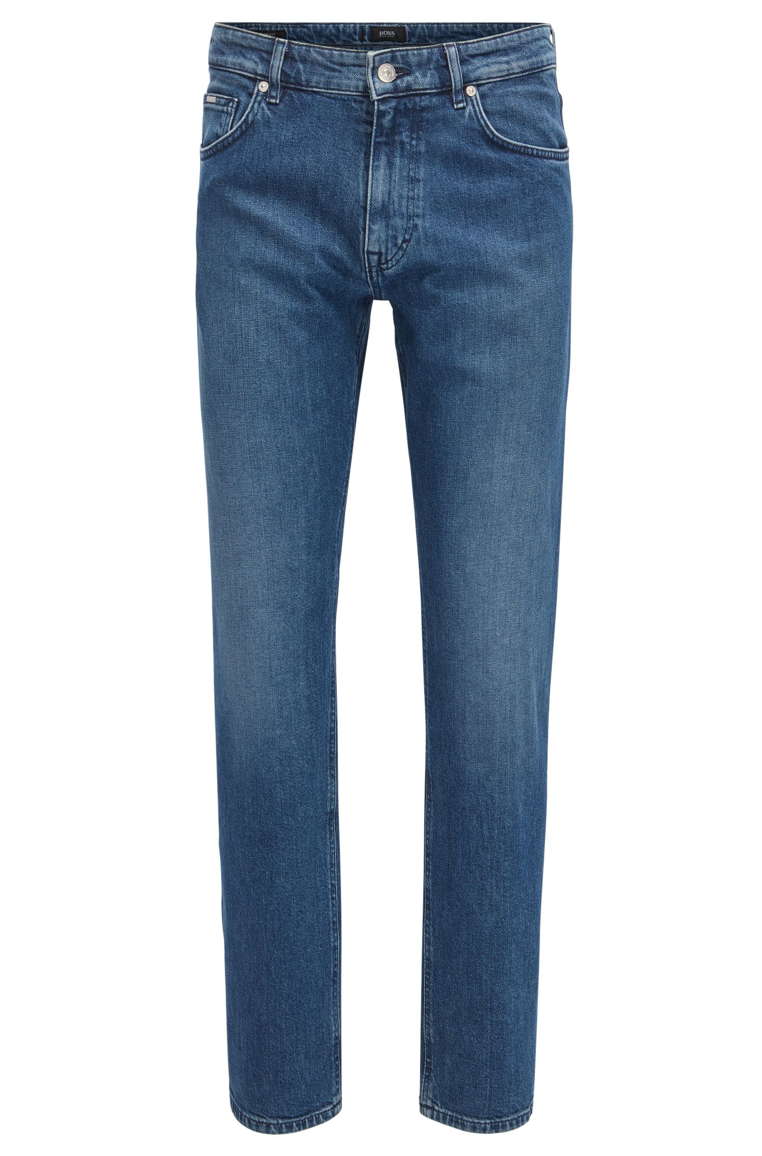 Jeans relaxed fit in denim italiano blu scuro