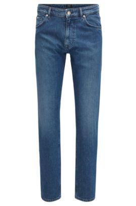 Relaxed-fit donkerblauwe jeans van Italiaans denim, Blauw