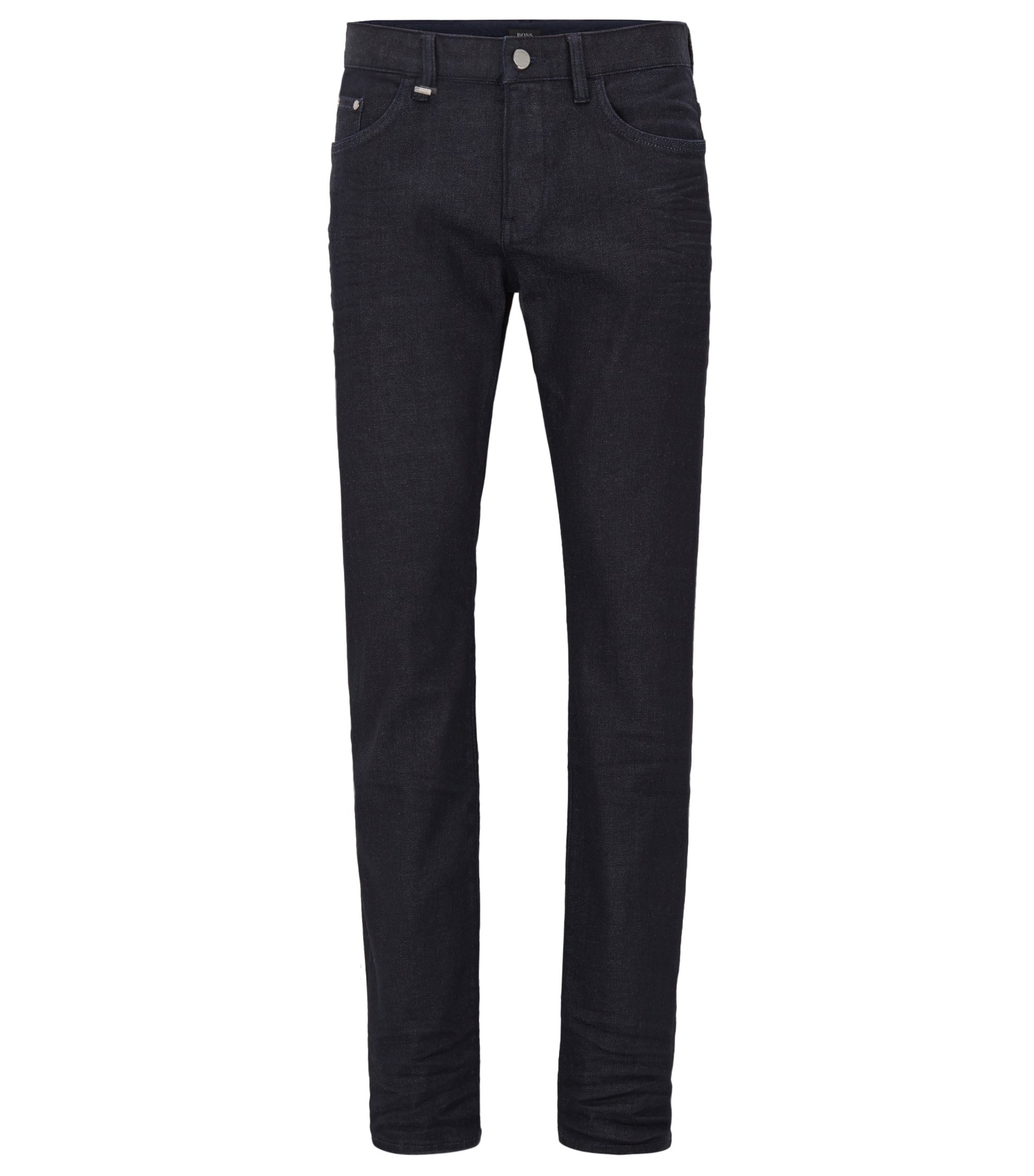 Jeans slim fit in denim giapponese, Blu scuro