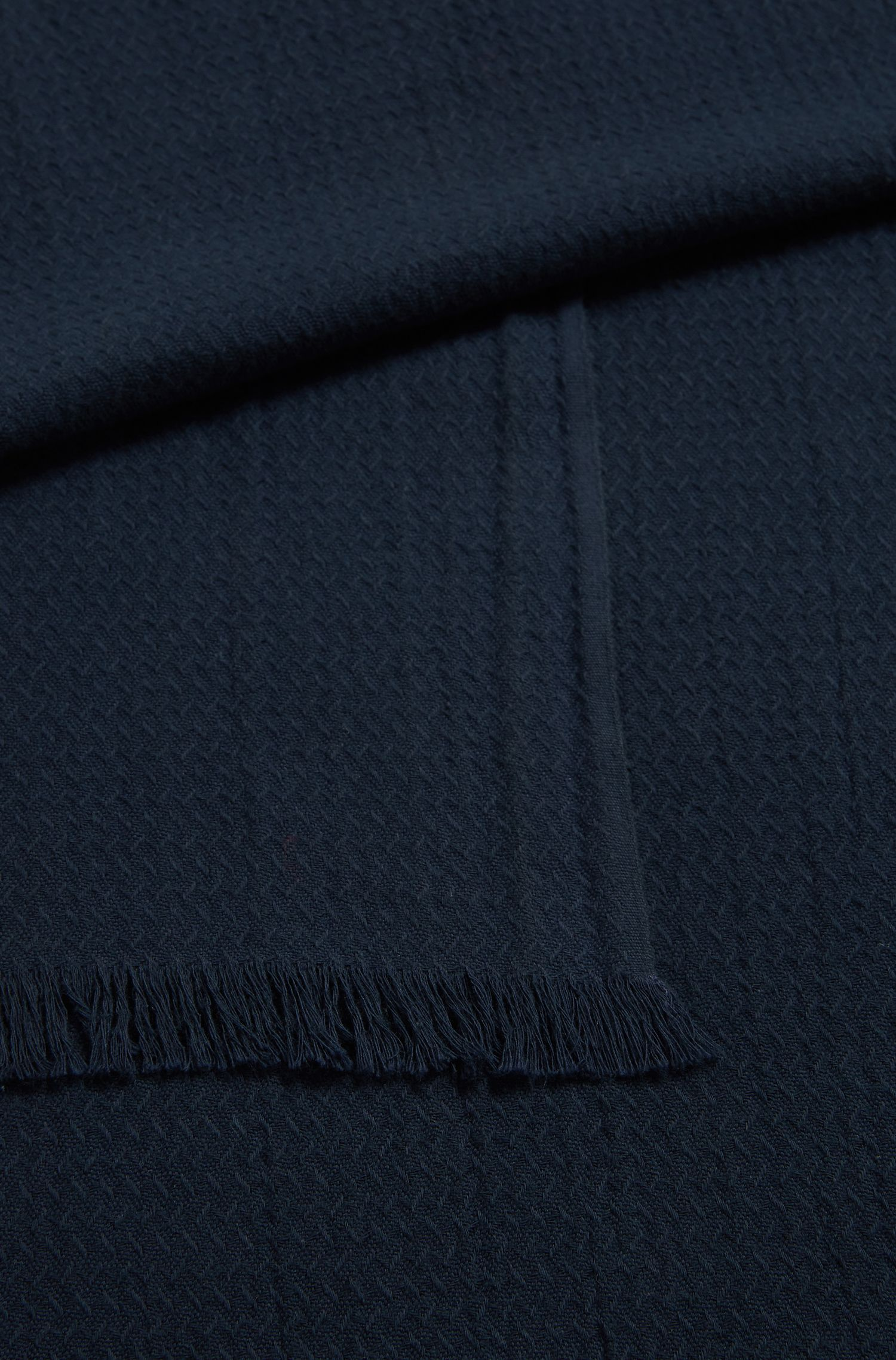 Cotton jacquard scarf with all-over structure