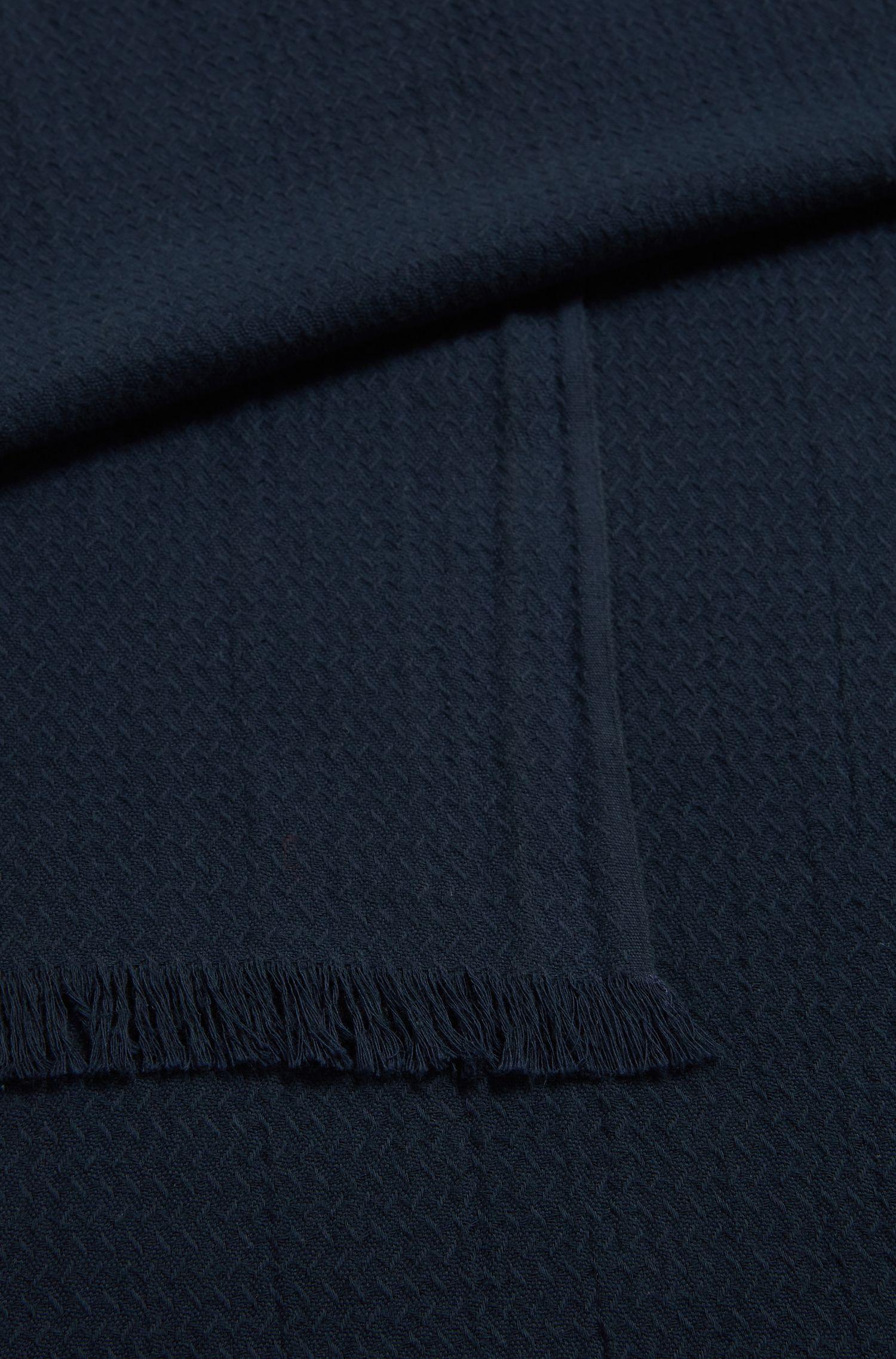 Bufanda en jacquard de algodón con estructura integral