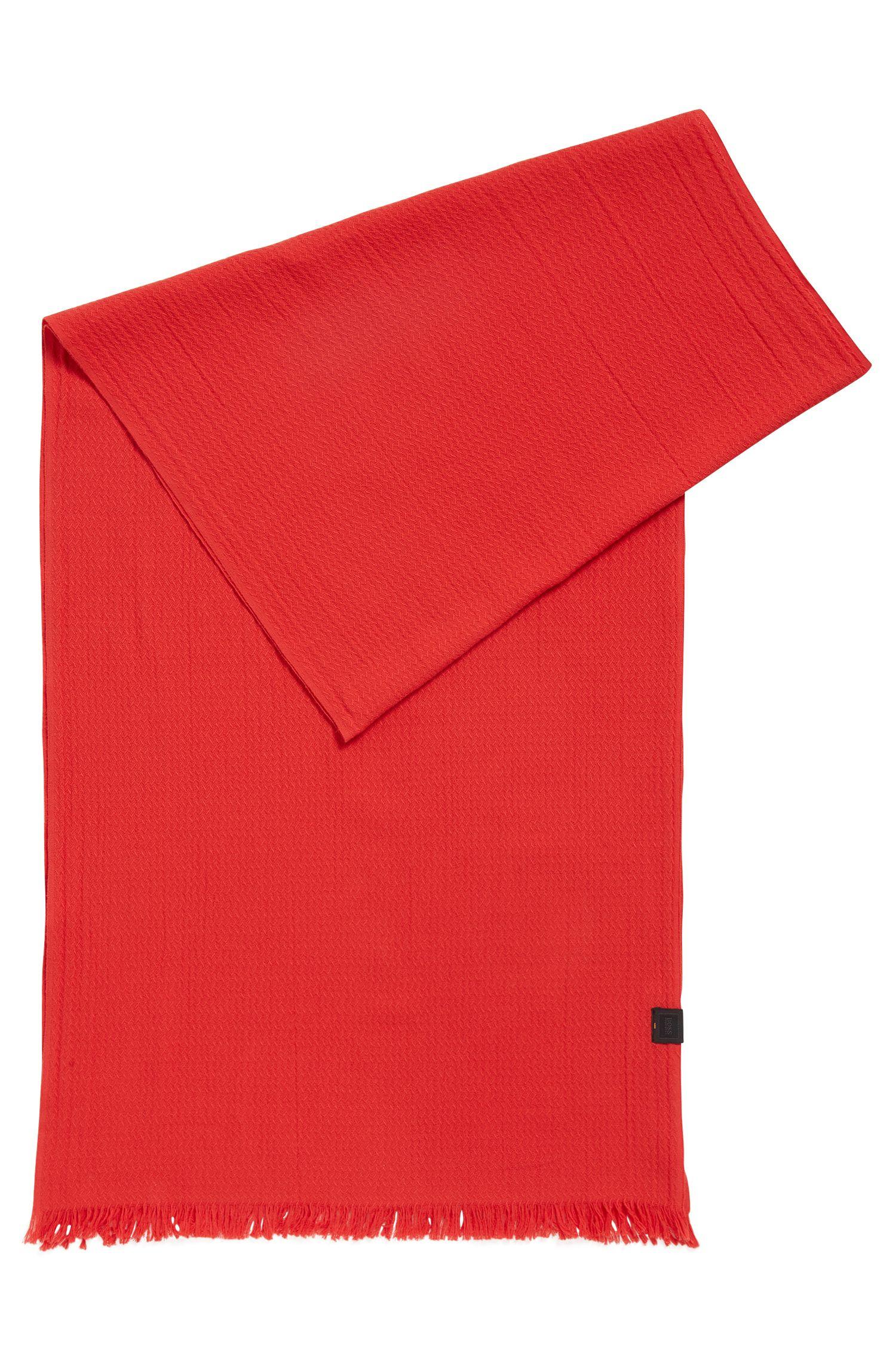 Sjaal in een jacquard van katoen met all-over-structuur