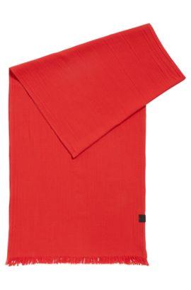 Schal aus strukturiertem Baumwoll-Jacquard, Rot