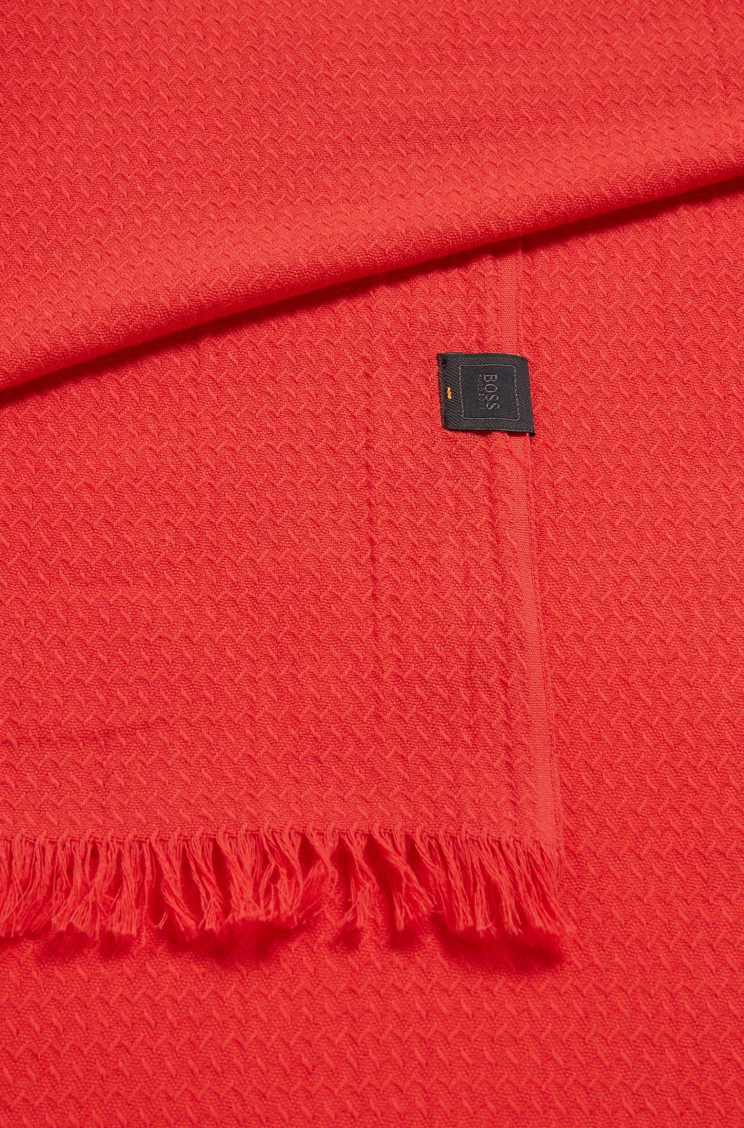 Écharpe en jacquard de coton avec structure all-over