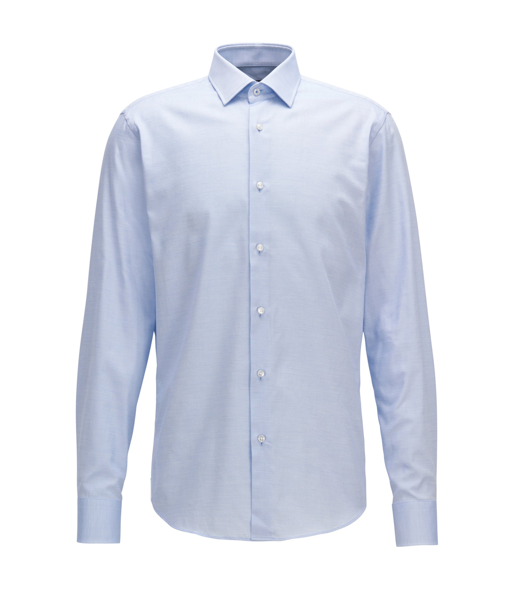 Camicia regular fit in cotone con microdisegni, Blu