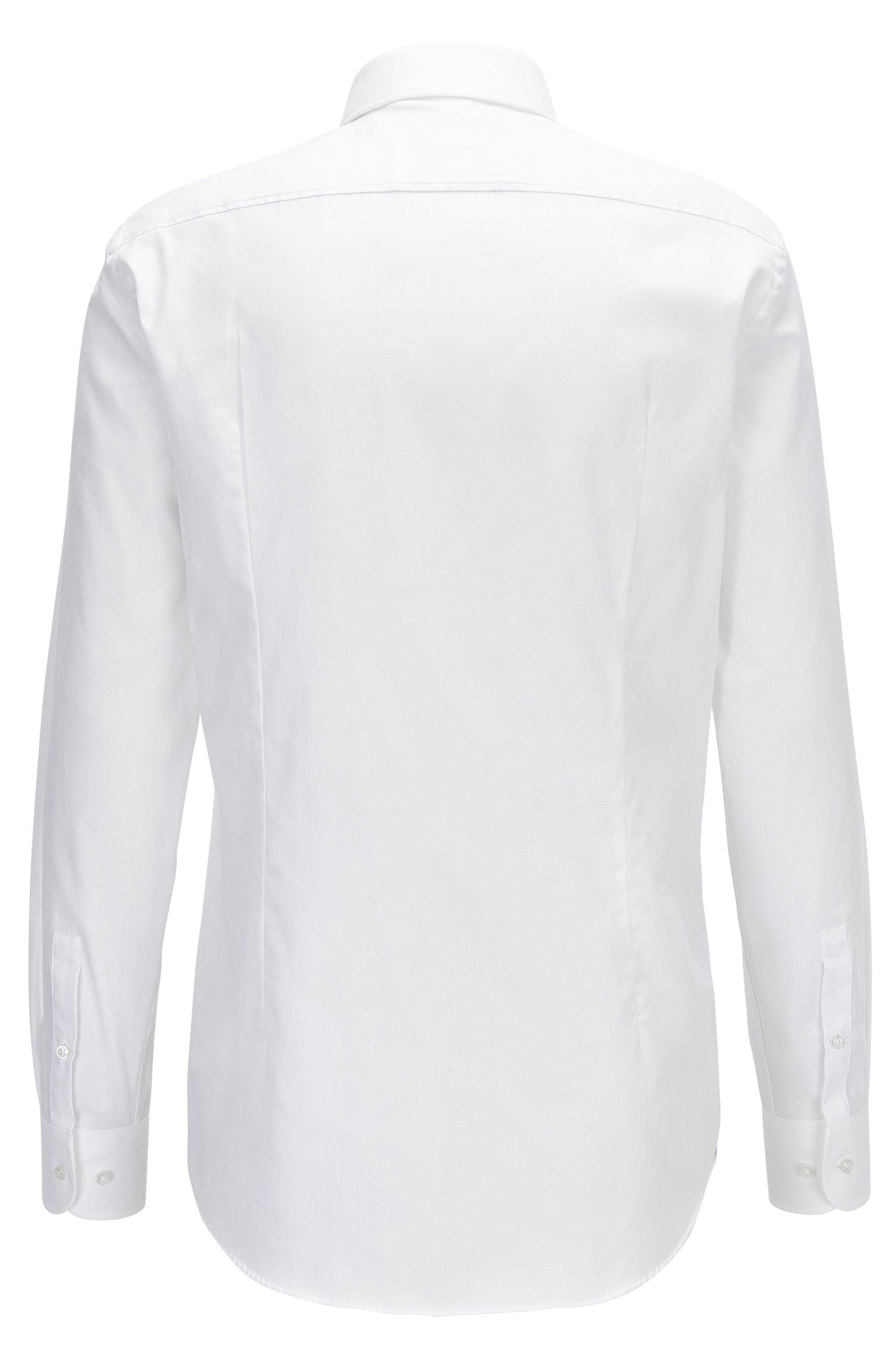 Dezent gemustertes Slim-Fit Hemd aus Baumwolle