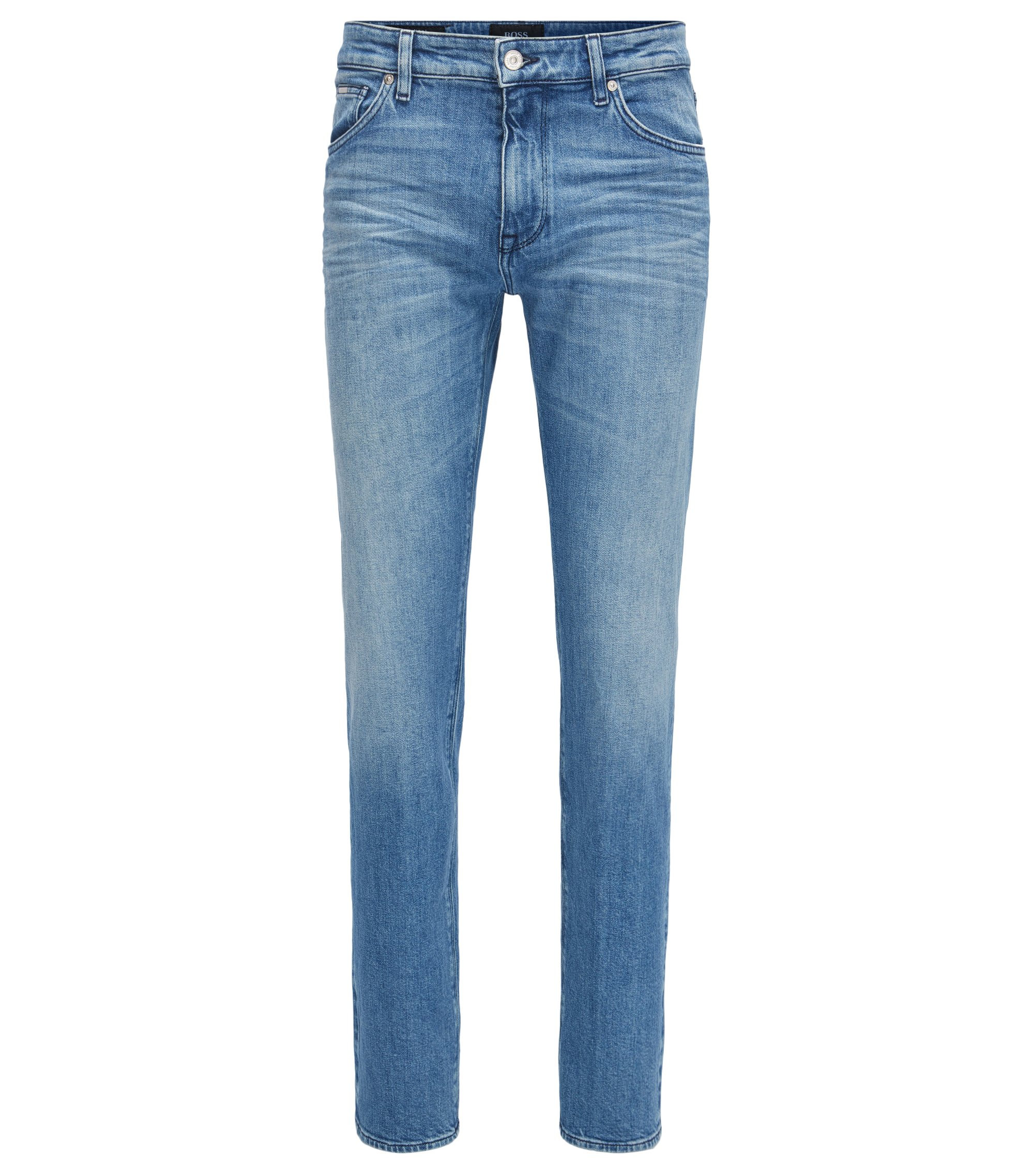 Jean Regular Fit en denim stretch bleu clair, Bleu