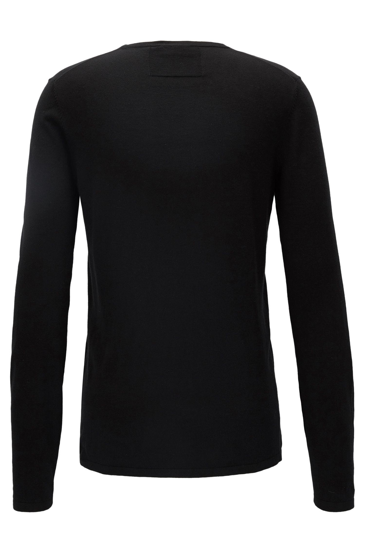 Pullover aus Baumwoll-Mix mit Seide