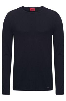 Pullover aus Baumwoll-Mix mit Seide, Dunkelblau