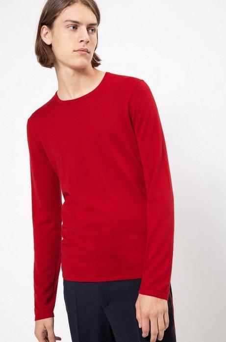 Trui van een katoenmix met ronde hals, Rood