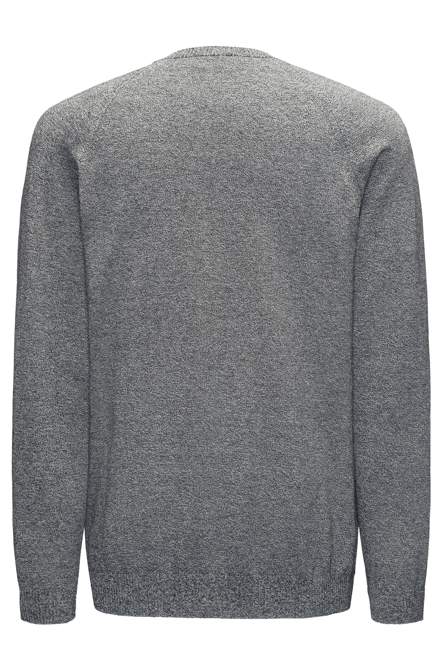 Mouliné sweater in pure cotton