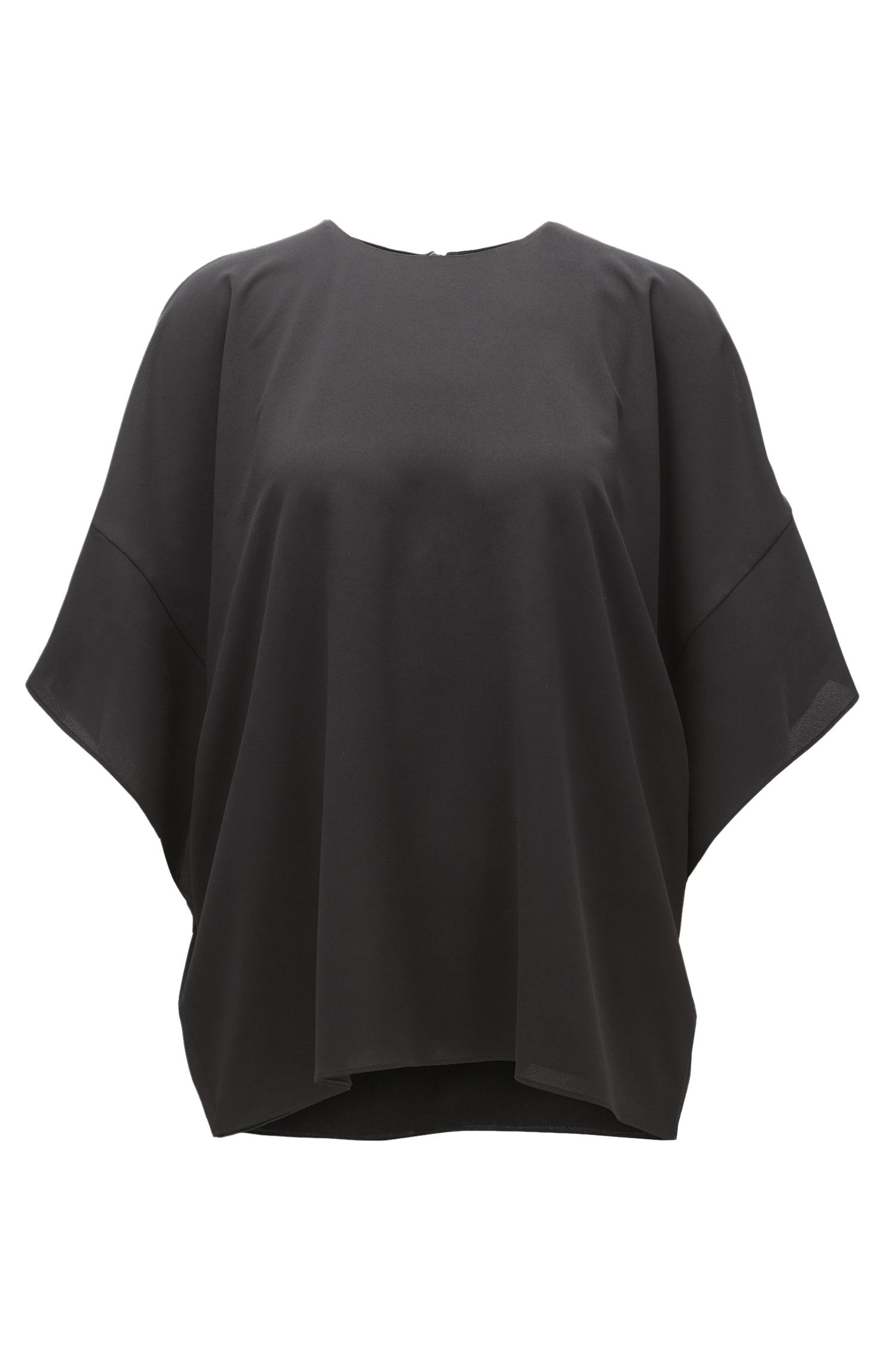 Slouchy top in lightweight crêpe