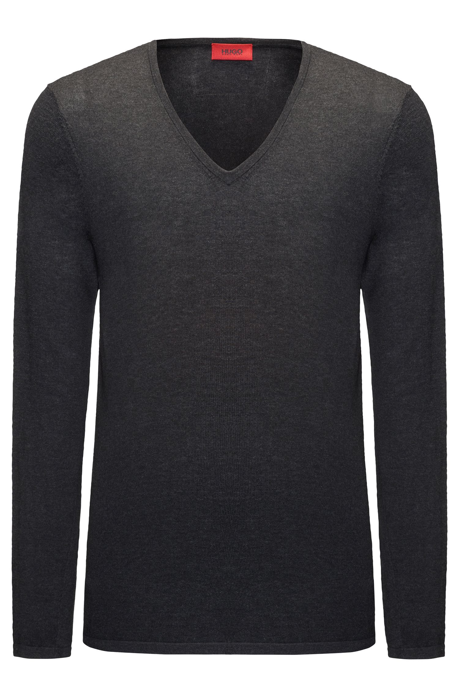V-neck sweater in a cotton blend