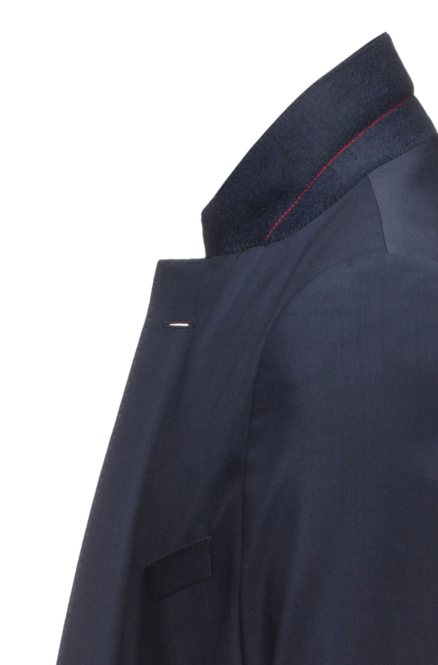 Regular-fit jacket in virgin wool