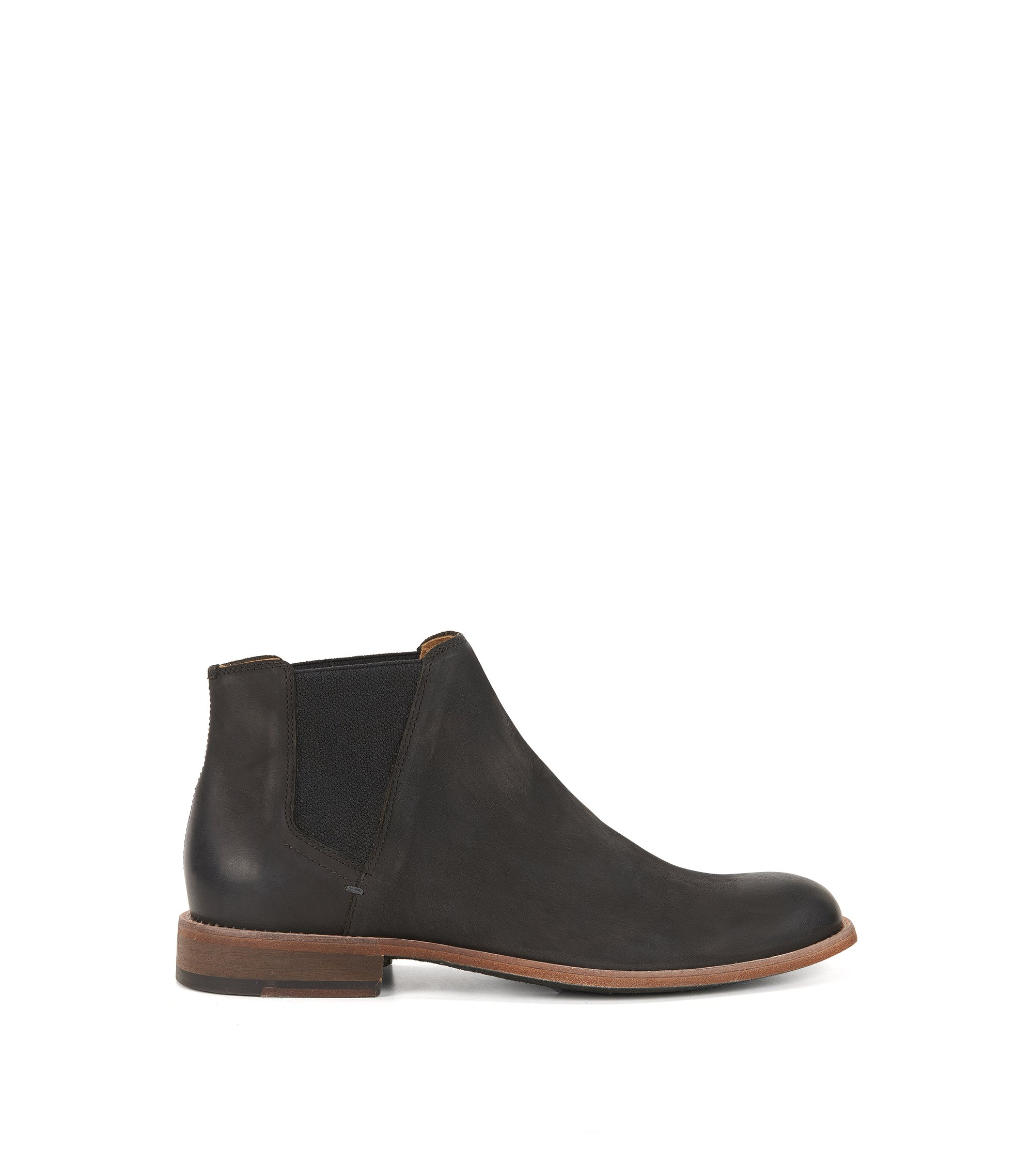 Chelsea boots in smooth nubuck, Dark Grey