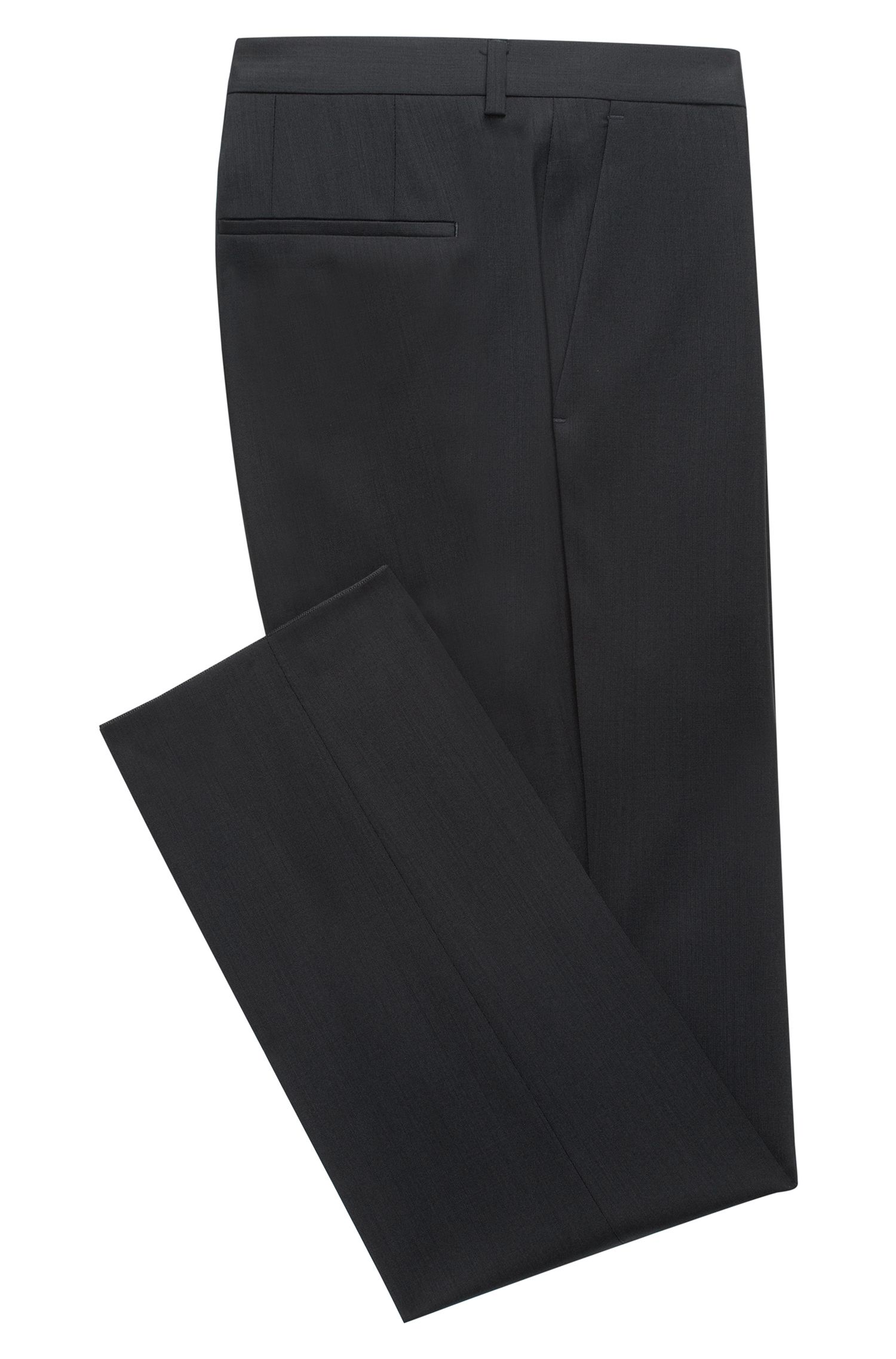 Pantaloni slim fit in lana vergine