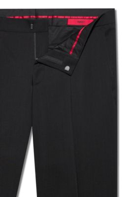Hugo Extra Slim Fit Virgin Wool Jacket With Natural Stretch