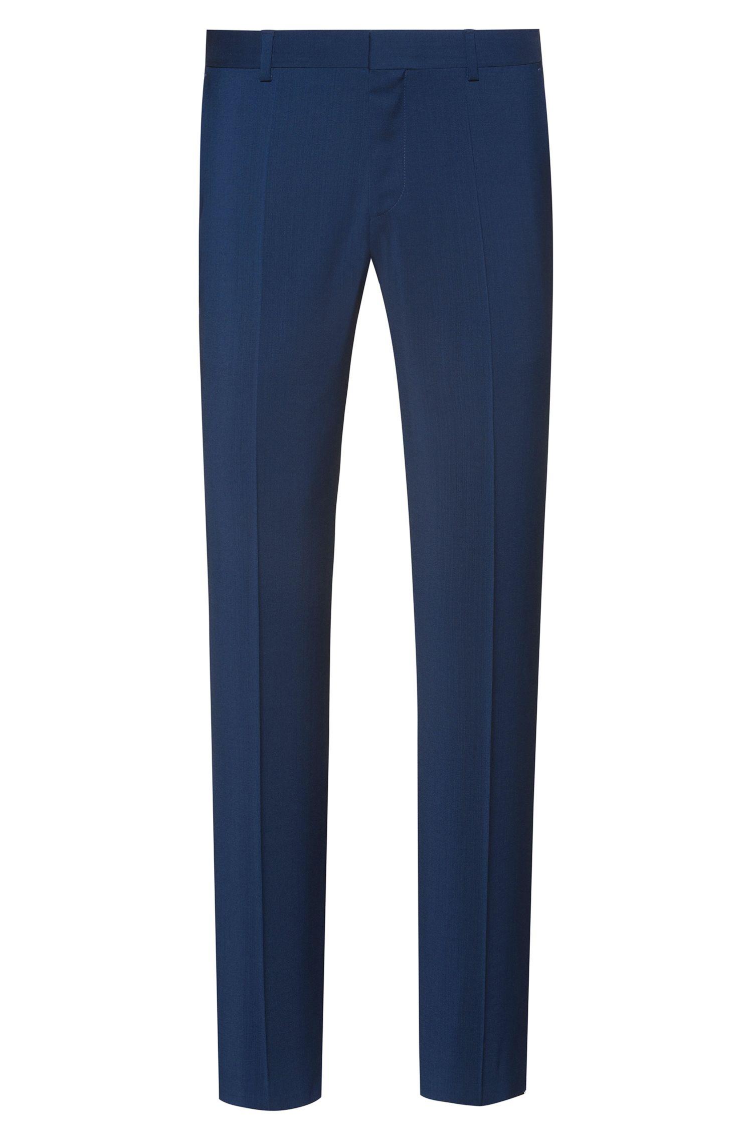 Pantalon Slim Fit en laine vierge, Bleu