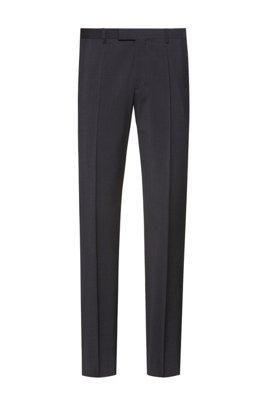 Regular-fit broek van scheerwol met natuurlijke stretch, Donkergrijs