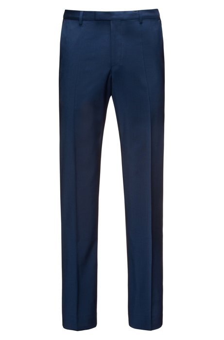 Regular-fit trousers in virgin wool , Blue