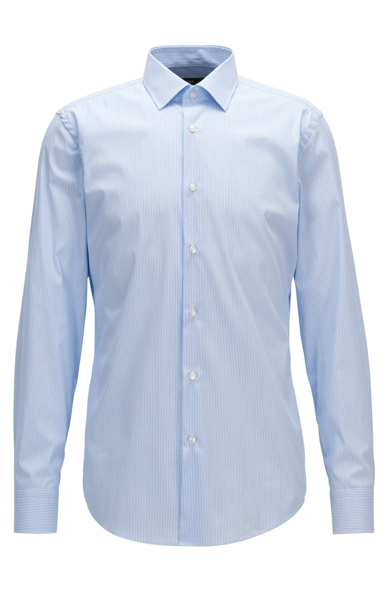 Cotton-blend shirt in a slim fit