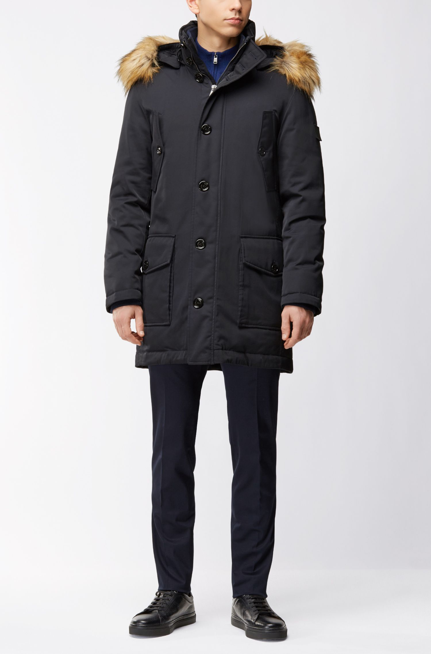 Regular-Fit Parka aus Twill