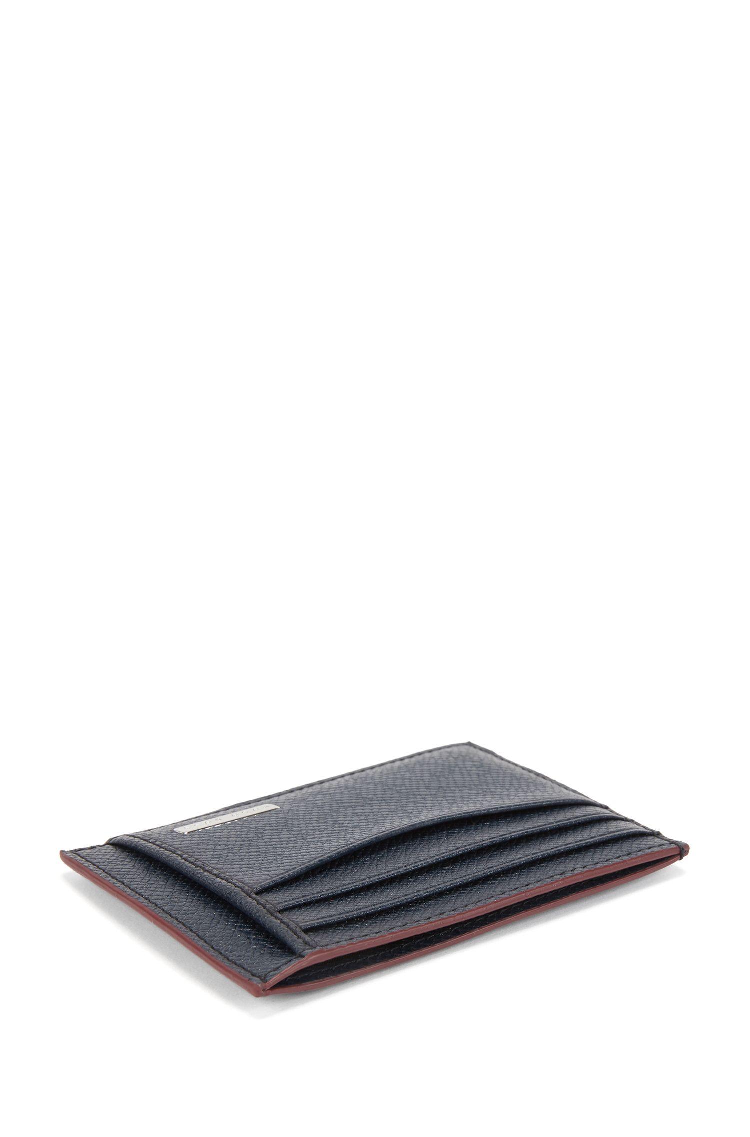 Kartenetui aus Palmellato-Leder aus der Signature Collection, Dunkelblau