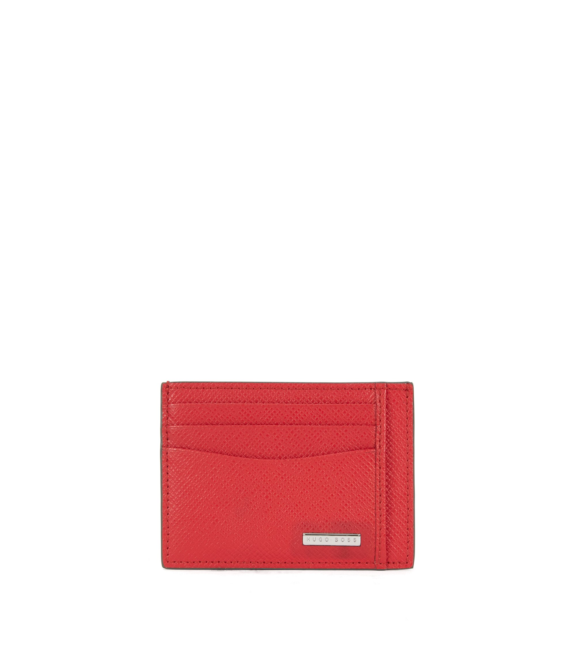 Signature Collection card holder in palmellato leather, Red