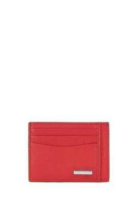 Card holders by hugo boss convenience meets style signature collection card holder in palmellato leather red colourmoves