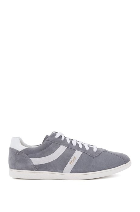 Low-top suede trainers with side stripes BOSS M05l2MKc