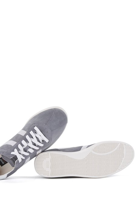 Low-top suede trainers with side stripes BOSS 85oZ1rIVjI