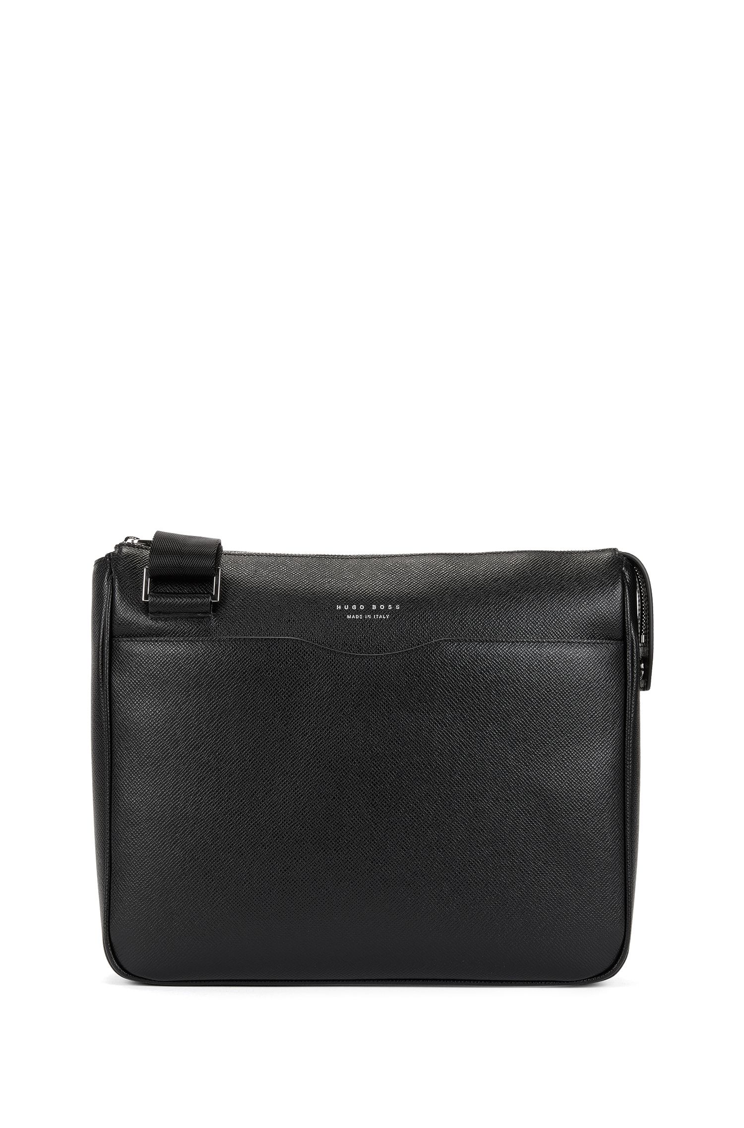 Crossbody-tas van bedrukt leer uit de Signature Collection