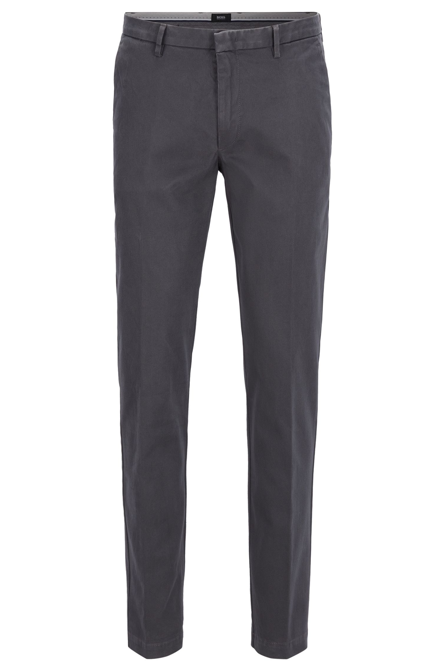 Chino Slim Fit en coton stretch imprimé
