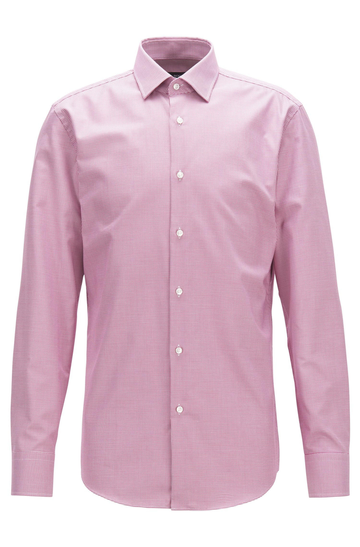 Slim-fit cotton shirt with Fresh Active finishing