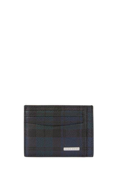 HUGO BOSS Porte-cartes Signature Collection, en cuir de veau imprimé