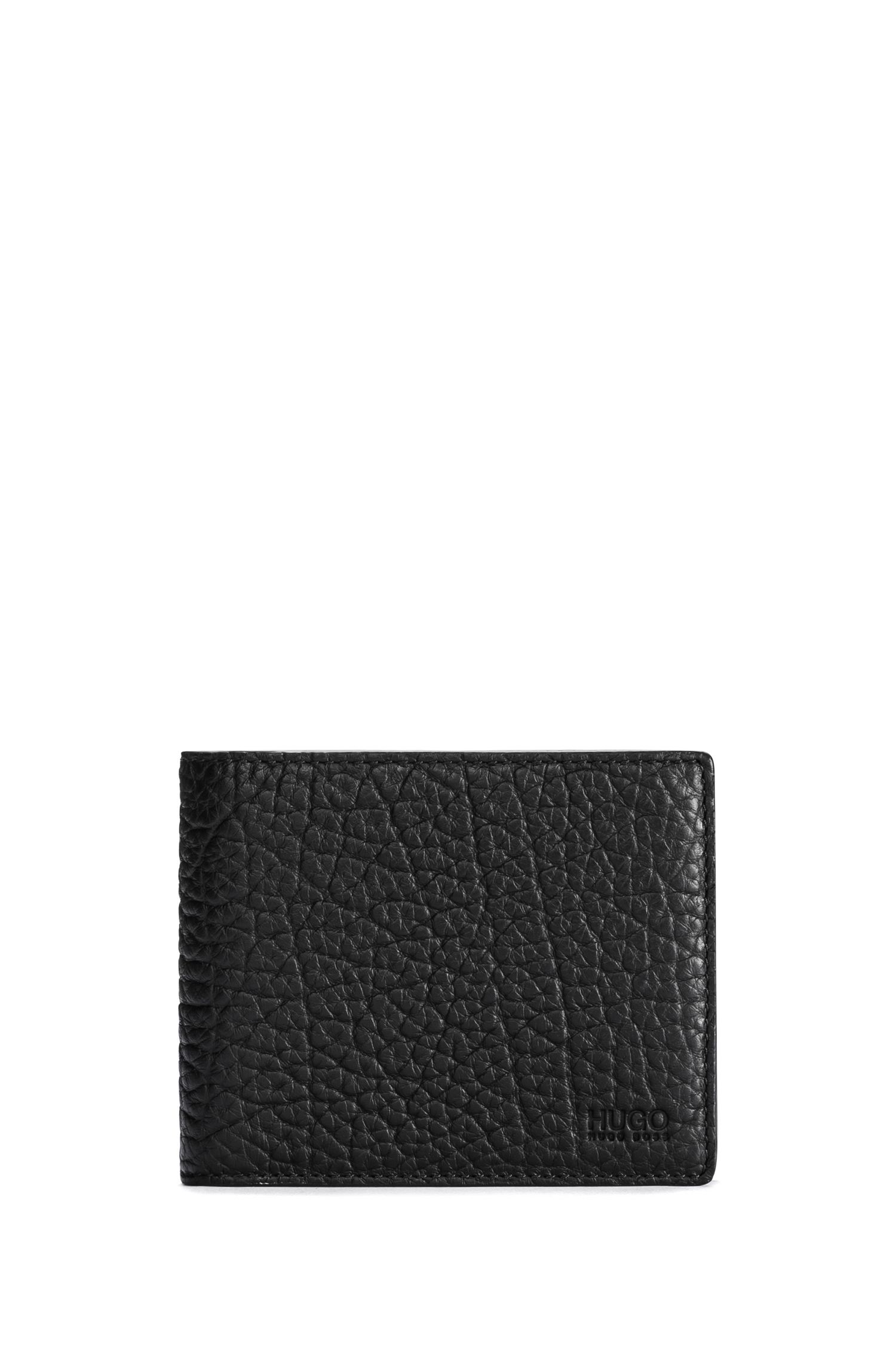 Bifold wallet in grained leather