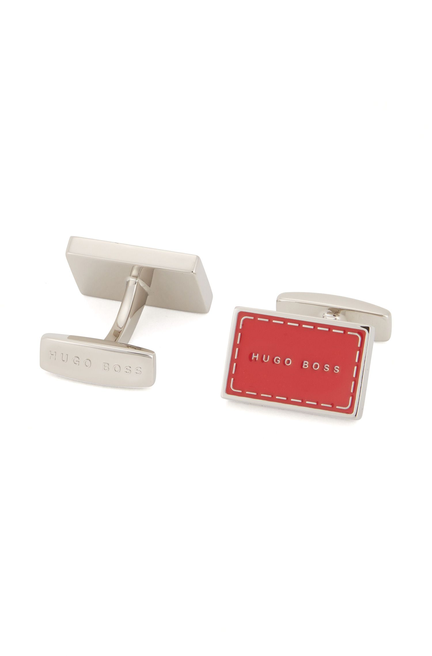 Logo cufflinks in hand-polished brass