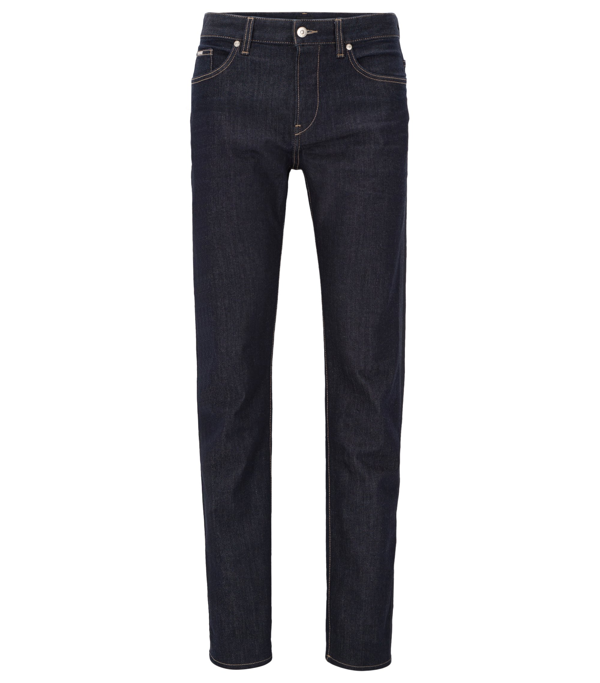 Jeans Slim Fit en denim stretch, Bleu foncé